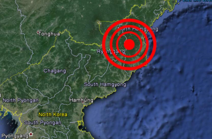 उत्तर कोरिया के परमाणु परीक्षण स्थल के पास भूकंप के झटके