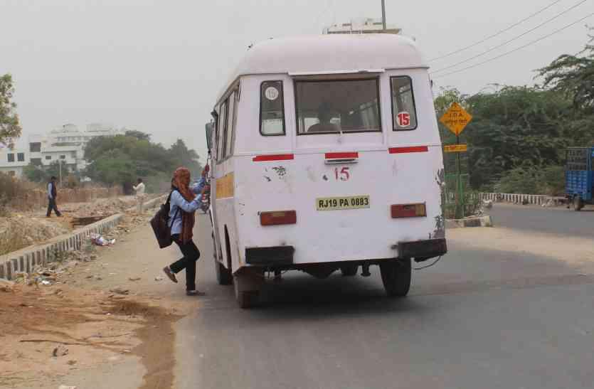 जोधपुर में बेलगाम दौड़ रही सिटी बसें