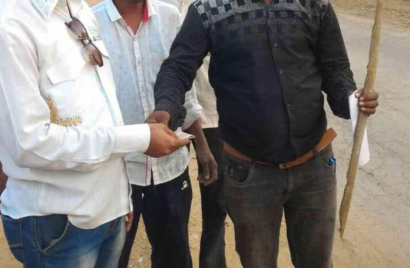 भ्रष्टाचार को समूल समाप्त करने युवक ने शुरू की पदयात्रा