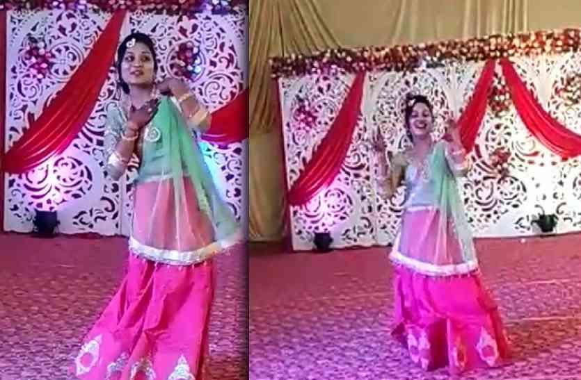 बीजेपी की जिला पंचायत अध्यक्ष अपराजिता ने अपनी शादी में किया मेरे सइयां सुपरस्टार पर डांस, वीडियो वायरल