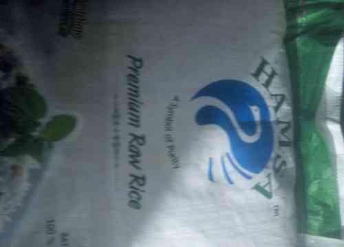 Seized rice sack