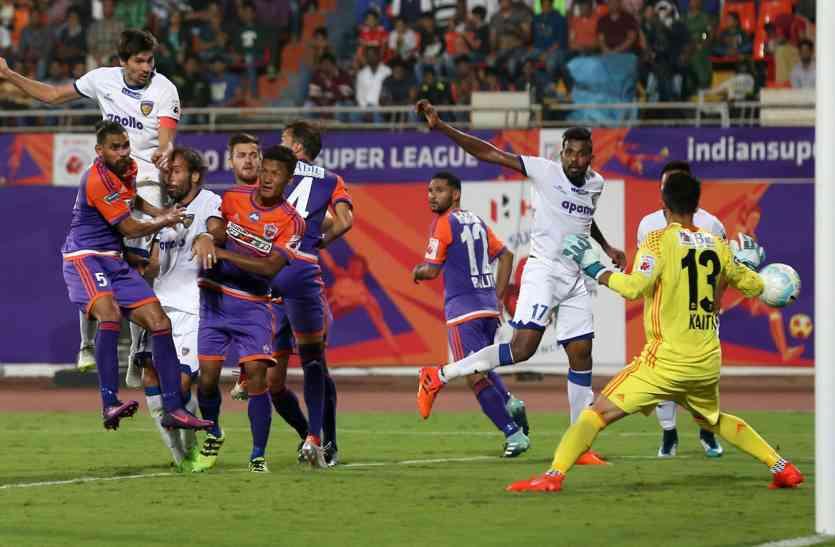 चेन्नयन एफसी ने लगाई जीत की हैट्रिक, एटीके को 3-2 से मात दी