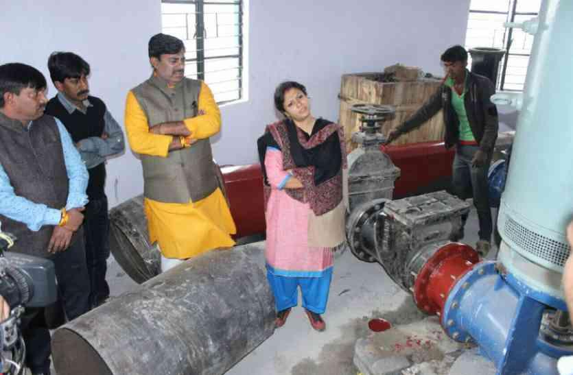 निगमायुक्त बोलीं- पंवार साब-24 घंटे यहीं रहकर काम करवाएं, हर हाल में 25 दिसम्बर तक कोलार को पानी देना है