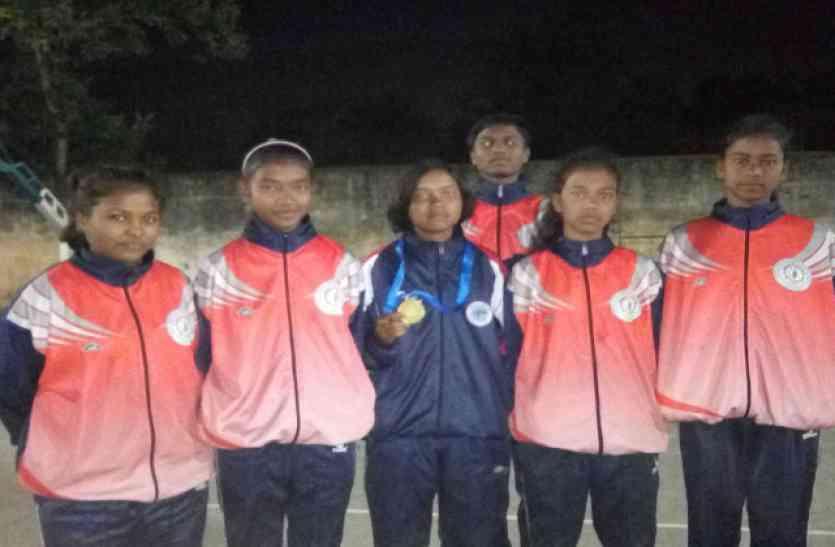 नेशनल ड्रॉप रो बॉल प्रतियोगिता में प्रियंका ने छत्तीसगढ़ के लिए जीता गोल्ड