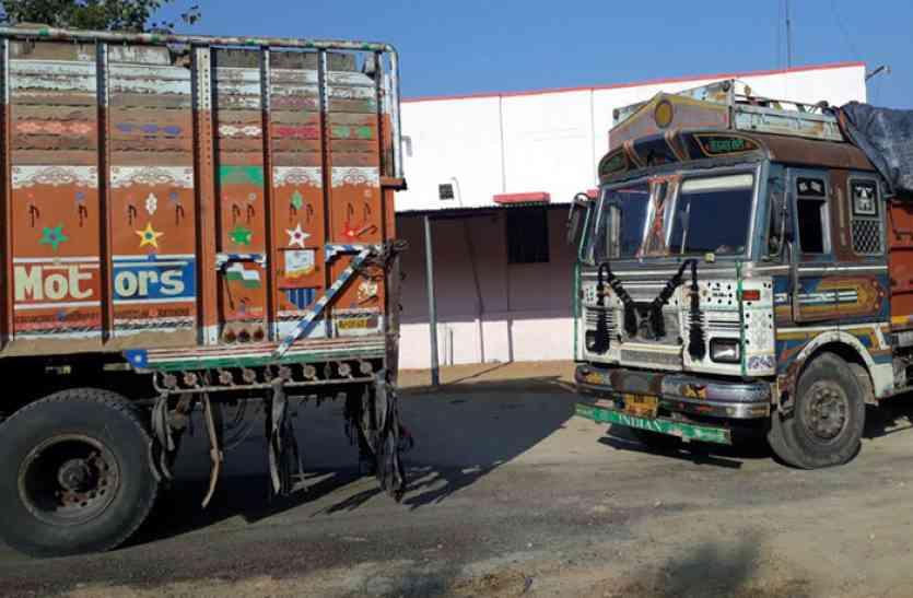चोरी-छिपे कर रहे बजरी परिवहन, विभाग ने नाकाबंदी कर आधा दर्जन वाहन किए जब्त