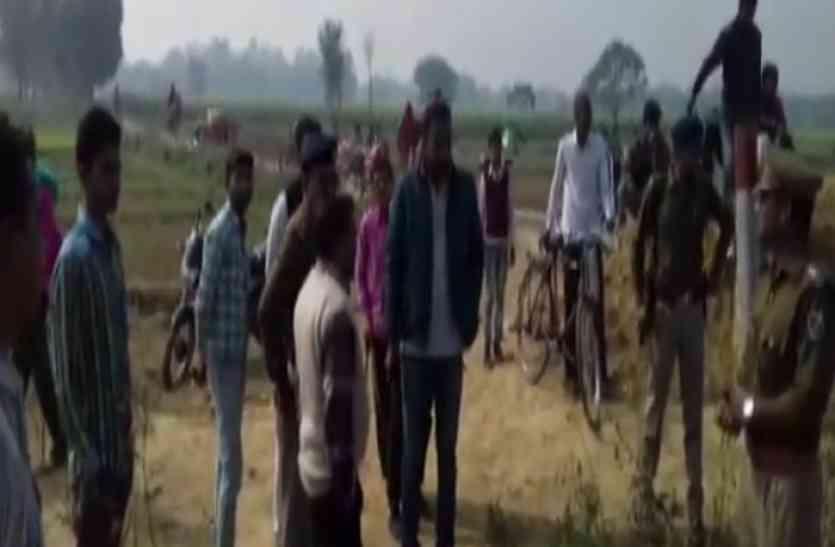 रेलवे क्रॉसिंग बंद करने पर भड़के ग्रामीण, दिल्ली रोड पर लगाया जाम