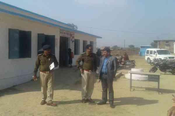 Police officers in school