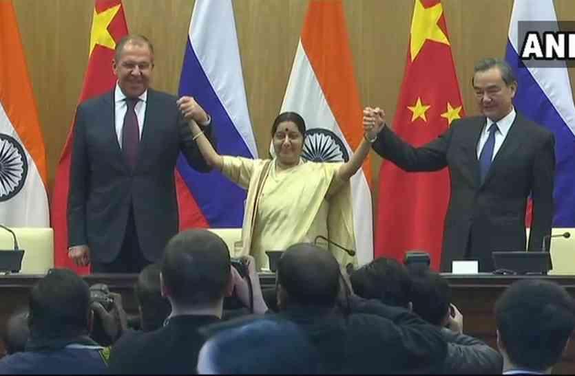 ભારત, રશિયા અને ચીન વચ્ચે યોજાઈ ત્રિપક્ષીય બેઠક