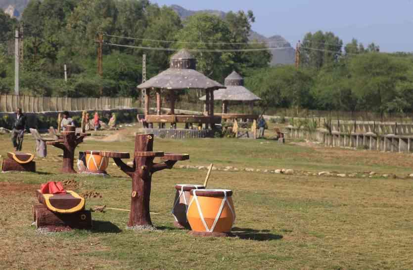 video: उदयपुर में बन रहा ऐसा पार्क जहां होगा घना जंगल और मिलेंगे विशालकाय डायनासोर..