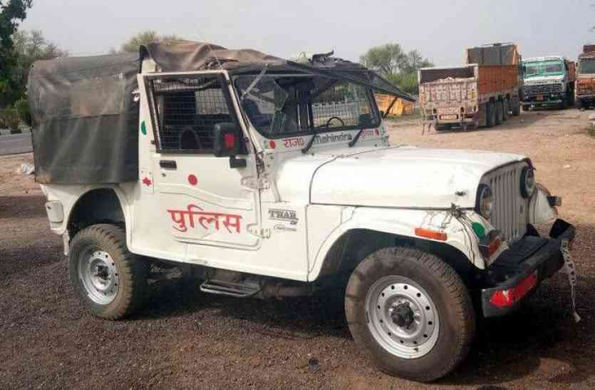 अलवर में पुलिस के वाहन की टक्कर से महिला की मौत