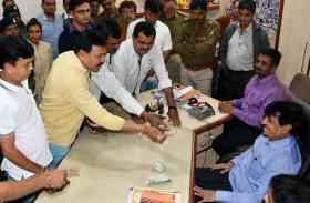 सामान्य सभा का बहिष्कार, महापौर के चैंबर में विपक्ष का हंगामा