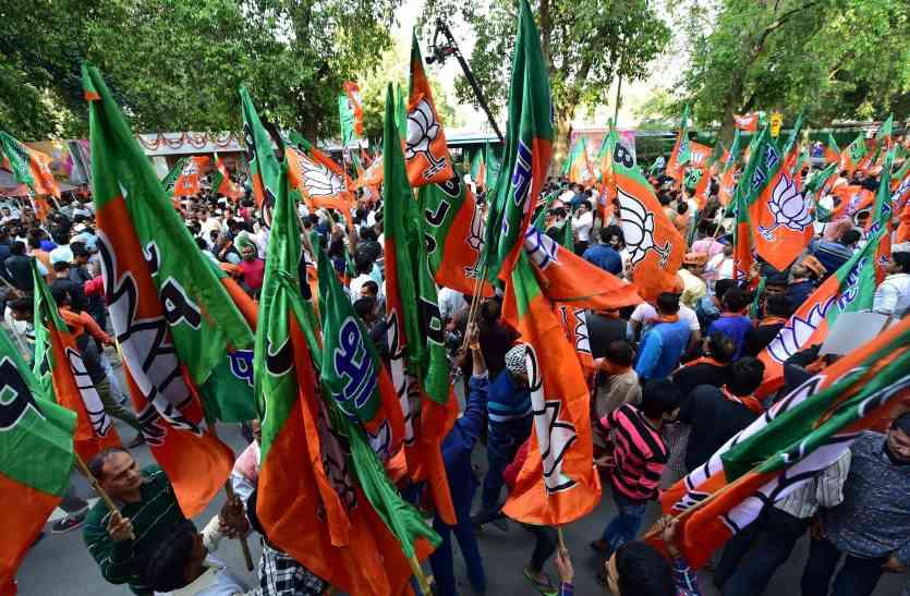 बीजेपी कार्यकर्ताओं में खुशी की लहर, गाजे बाजे के साथ मनाया जश्न