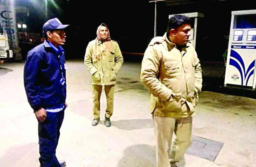अलवर में एक पेट्रोल पंप पर हुई लूट, पुलिस ने शुरू की तलाश