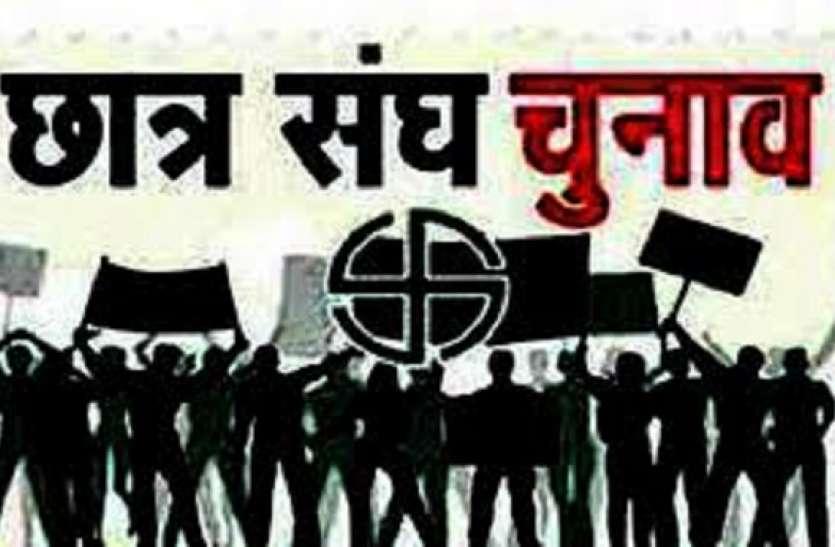 छात्रसंघ चुनाव के प्रचार में अभी से शहर बदरंग