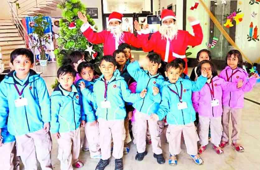Merry christmas:छाने लगी क्रिसमस की खुशियां, विभिन्न स्कूलों में हुए आयोजन