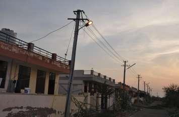 मुख्यमंत्री राजे के आदेश से नागौर आवासन मंडल कॉलोनी में ढाई साल से बंद पड़ा है काम