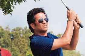 VIDEO: गोल्फ के मैदान में उतरे सचिन तेंदुलकर, लगाया दमदार स्ट्रोक