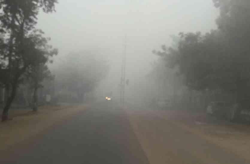 कोहरे के आगोश में रही नए साल की सुबह, सर्द हवा ने भी ढाया सितम