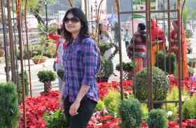 उदयपुर की फतहसागर पाल कुछ यूं महक रही गुलों से, देखें तस्वीरें
