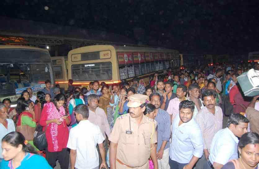 परिवहनकर्मी हड़ताल पर