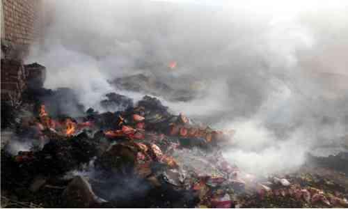 Fire in Makrana ware house