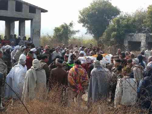 martyr Constable ankit tomar funeral in baghpat