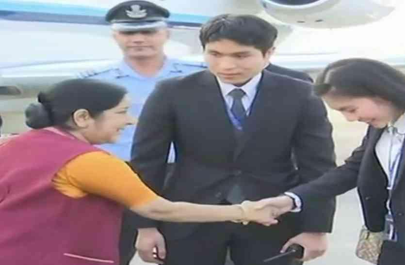 विदेश मंत्री सुषमा स्वराज पहुंचीं थाइलैंड, जानिए किन-किन मुद्दों पर यहां होगी बात
