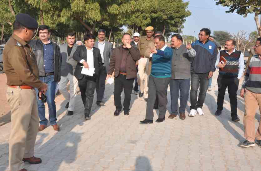 पीएम मोदी के दौरे से पहले अधिकारी पहुंच गए झुंझुनूं- इन जगहों पर जाकर लिया सुरक्षा का जयजा