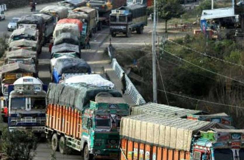 सुबह से रात तक भारी वाहनों के प्रवेश पर प्रतिबंध
