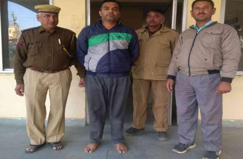 कुख्यात हिस्ट्रीशीटर बदमाश को पुलिस ने किया गिरफ्तार, नाबालिग का यौन शोषण कर सालभर से था फरार