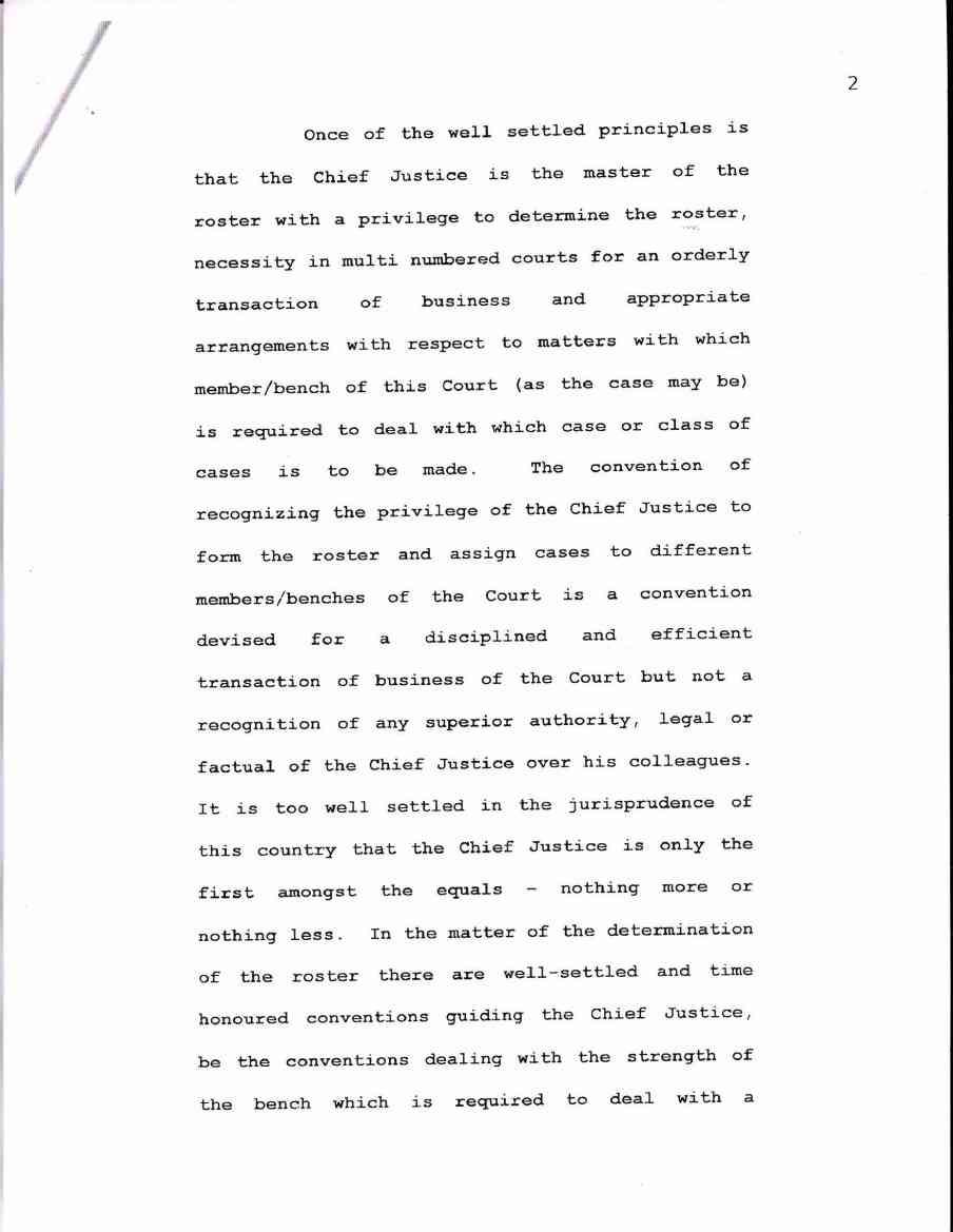 Supreme Court letter