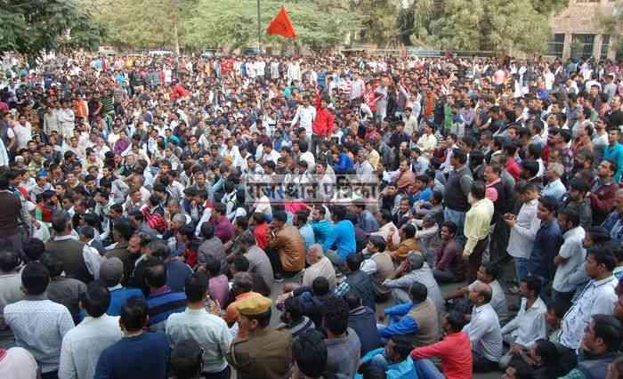 Rally taken by people of Hindu organizations in Pali