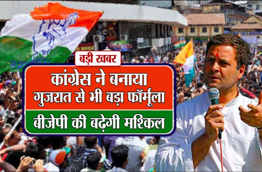 कांग्रेस ने बनाया गुजरात से भी बड़ा फॉर्मूला, बीजेपी की बढ़ेगी मुश्किल