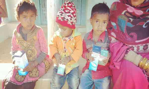 Malnaurished children in programme