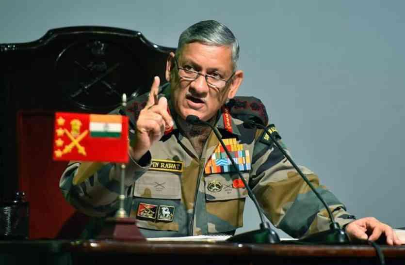 आतंकवाद खत्म करने के लिए पाक पर जारी रहेगा दबाव- सेना प्रमुख