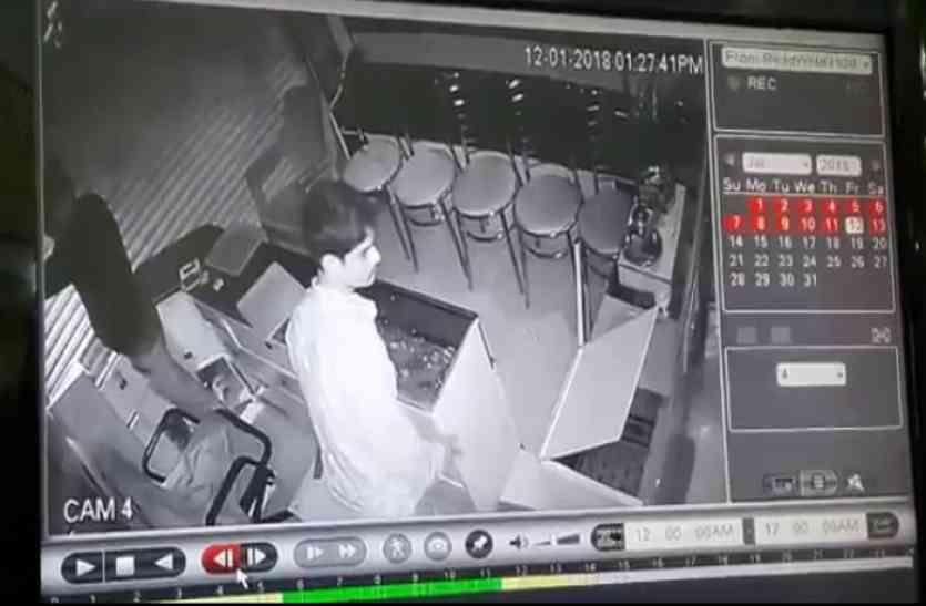 सोने चांदी की दुकान में 8 लाख की चोरी, सीसीटीवी में कैद हुई घटना