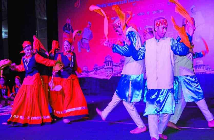 फोक डांस में भारतीय कला और संस्कृति का दिखाया रूप,चारों धाम के कराए दर्शन