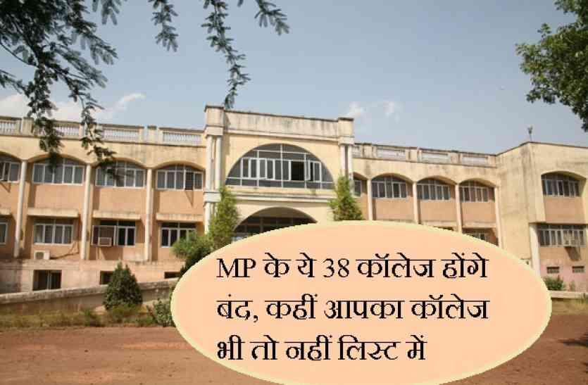 बड़ी खबर: MP के ये 38 कॉलेज होंगे बंद, कहीं आपका कॉलेज भी तो नहीं लिस्ट में, छात्रों पर संकट