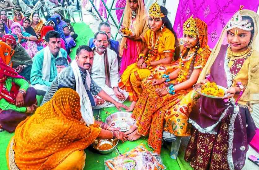 संगीतमय श्रीमद् भागवत कथा में कृष्ण-रूक्मिणी विवाह प्रसंग सुनाया