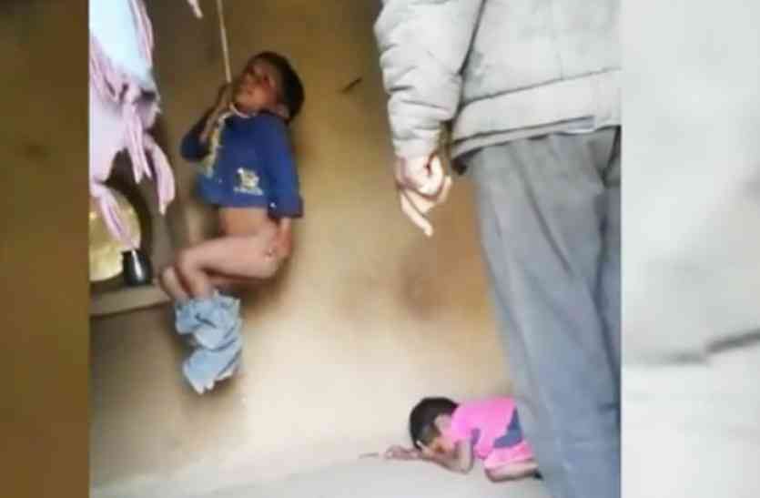 Kids beaten by father