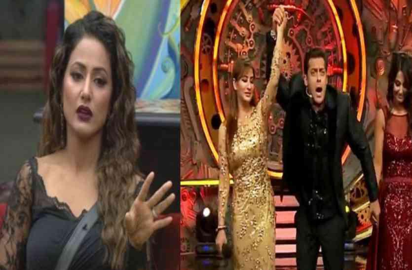 BIGG BOSS हार नही पचा पा रही हैं हिना खान, कहा इस वजह से जीती शिल्पा नही तो वो होती...