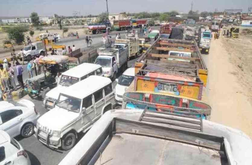 हरियाणा में हो रही वाहनों की जांच, लेकिन परेशानी हो रही राजस्थान को