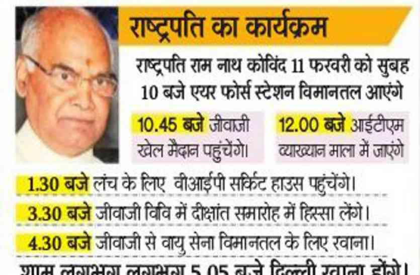 ये रहेगा राष्ट्रपति रामनाथ कोविंद का कार्यक्रम, मंत्री माया सिंह हैं मिनिस्टर इन वेटिंग