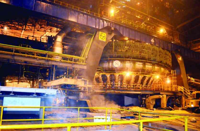 ब्रेक डाउन के 52 घंटे बाद BSP ब्लास्ट फर्नेस-8 महामाया में उत्पादन शुरू