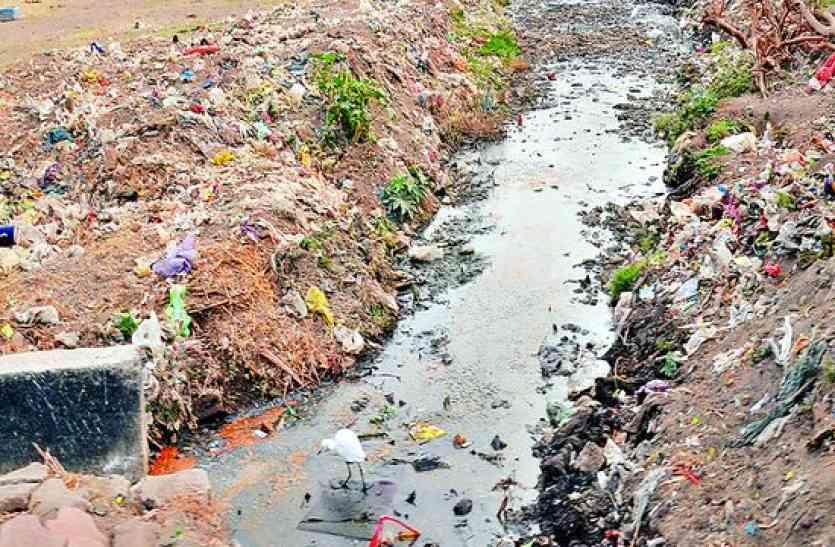 इन्दौर के पड़ोसी जिले में ही नहीं बन पाई अभी तक सड़क ,फैला हुआ है कचरा