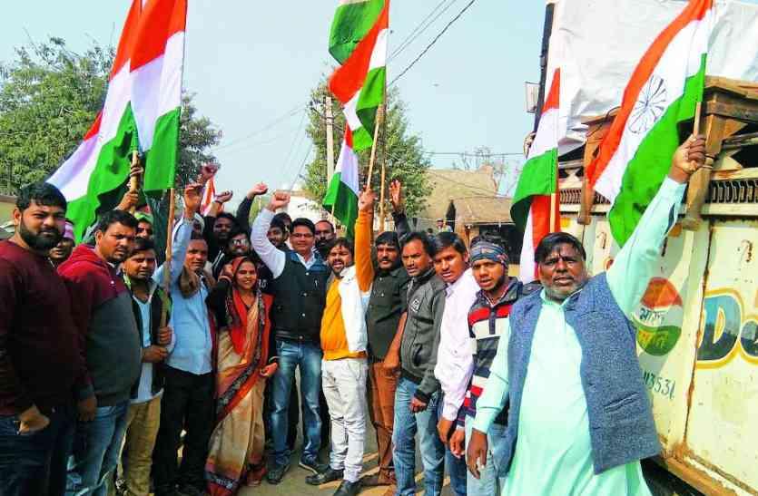 अलवर: तिरंगा रैली निकाल, कुपवाड़ा में शहीद में शहीद हुए जवान के परिवार का किया सम्मान