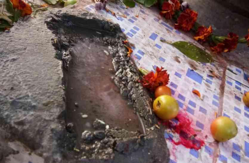 भगवान कार्तिकेय की मूर्ति अज्ञात लोगों ने की क्षतिग्रस्त