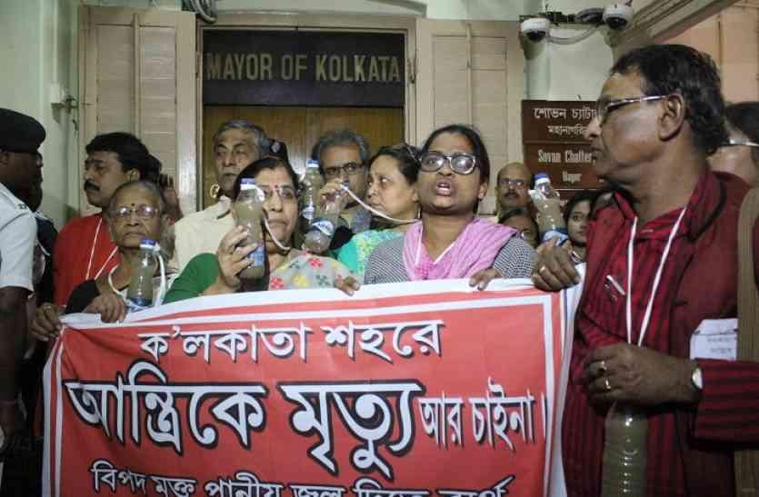कोलकाता निगम में डायरिया पर हंगामा