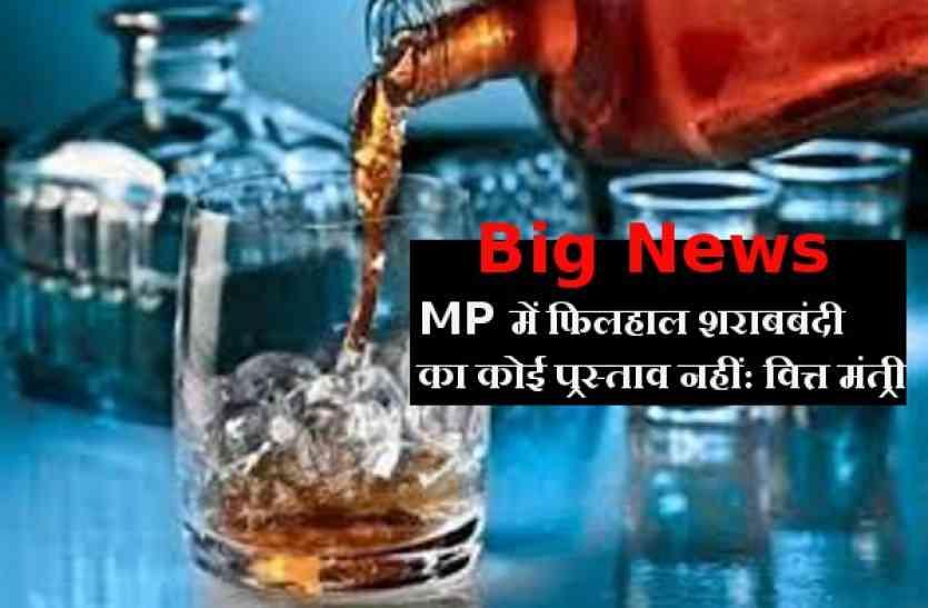 MP में फिलहाल शराबबंदी का कोई प्रस्ताव नहीं: वित्त मंत्री