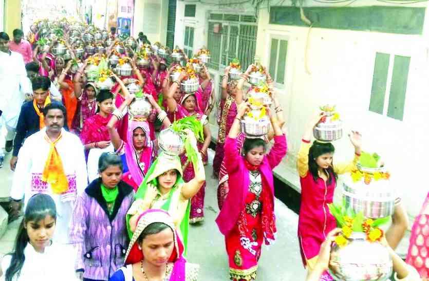 कलशयात्रा में उमड़ी श्रद्धा,प्राण-प्रतिष्ठा कार्यक्रम शुरू